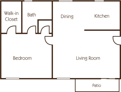 1 Bed / 1 Bath / 820 sq ft / Deposit: $400 / Rent: $1,325